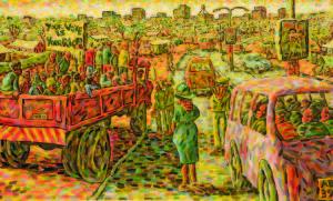 Lovemore Kambudzi, 'Pre-Election,' 2008, Oil on canvas, 177 x 108cms